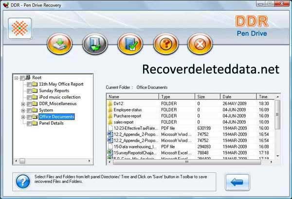 Recover Deleted USB Data screenshot